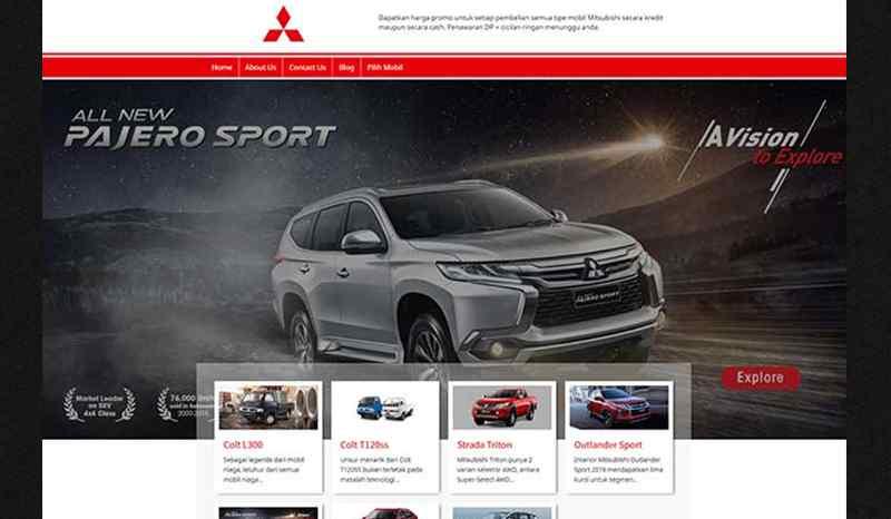 Website Sales Otomotif