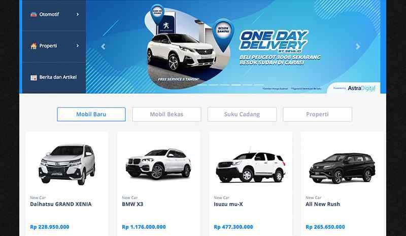 Website Rental Mobil
