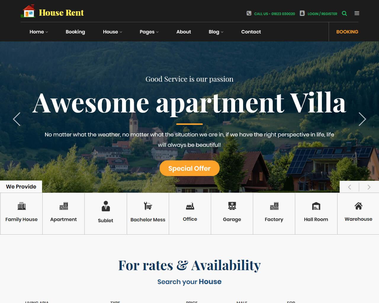Website Apartement
